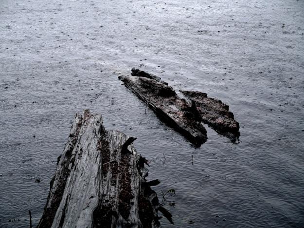 rain on lake